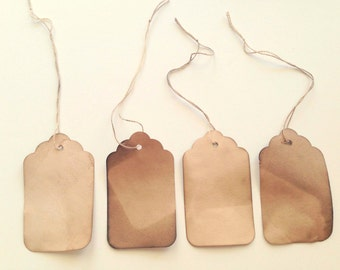 150 MEDIUM Tags with STRINGS. Anthropologie. Vintage Wedding Tags. Name Cards. Gift Tags. Escort Card. Seating Card. Boho. Bohemian. Rustic.