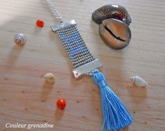 Woven necklace astrological sign Gemini, birthday gift, mother's day