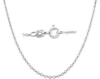 14Kt White Gold Necklace Chain