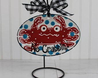 Ceramic Crab Plaque