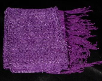 SALE! Purple Lace Russian Scarf Purple Crochet Scarf Lace Scarf Bohemian Scarf Shabby Chic Scarf Wedding Lace Fashion Scarf Violet Purple