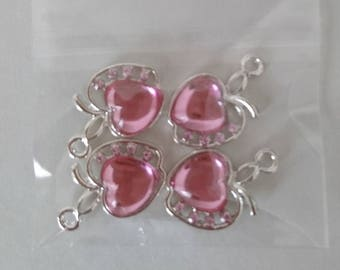 Apple heart charms