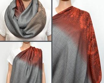 Nursing Cover, Nursing Scarf, Nursing scarf cover, Nursing  infinity scarf, Infinity scarf, Breastfeeding Cover, nursing