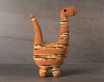 Bradly the Brontosaurus; amigurumi, crocheted, crocheted critter, baby, toy, softie, gift.