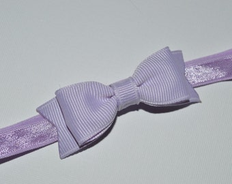 Lavender Bow Headband. Small Lavender Hair Bow Headband. Baby Hair Accessories. Baby Girls Hair Accessories. Baby Bow Headband, Purple