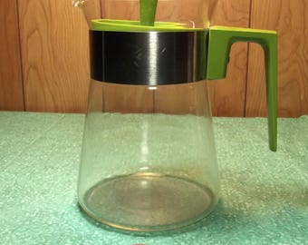 Pyrex Green Coffee / Carafe Pot / Kettle / 6 Cup