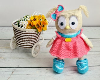 Plushie Baby toys Kids toys Gift for kids Crochet toy Stuffed animal Crochet owl Personal baby gifts Knit toy Plush doll