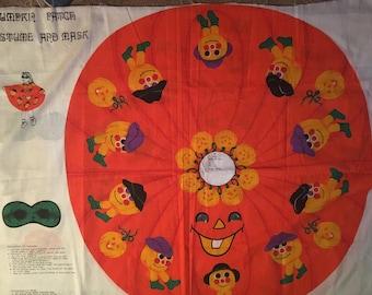 Vintage pumpkin costume fabric X2
