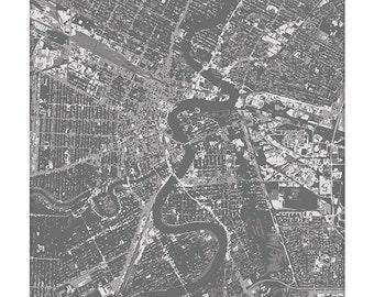 Winnipeg Cityscape Art Print / Manitoba Canada City Map Wall Art / 8x10 / Choose your Color