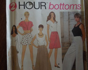 Simplicity 8958, sizes 6-10, pants or shorts and skirt, UNCUT sewing pattern, craft supplies