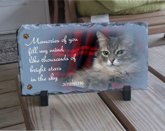 Pet memorial plaque, Cat memorial sayings, pet remembered, pet memorial stone plaque, pet sympathy gifts, pet loss plaque