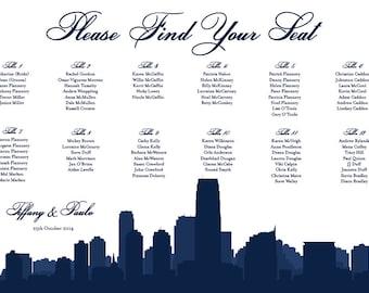 Jersey City Seating Chart Printable PDF Custom Poster Digital Design Print File ONLY Seating Plan