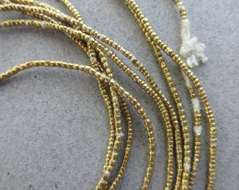 African Brass Heishi -3 Strands