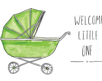 Welcome Little One Baby Shower Greeting Card