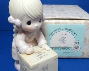 Precious Moments 1987 Charter Membership Figurine Sharing is Universal