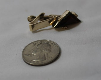 Vintage Faux Topaz Tie Clip, November Birthstone