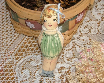 Cloth Paper Doll Beatrice Janet