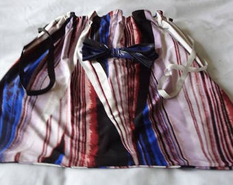 One of a kind Gift for her Fabric Gift BAG LINGERIE Pajama's Nightgown bag-Blue Flame