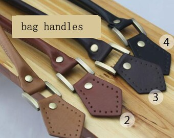 leather bag handles,brown/black handles,handles for handmade bag