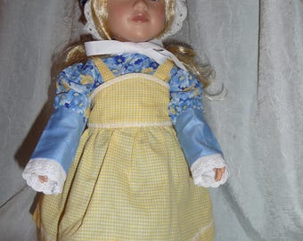 Sweet Pioneer dress and apron for 18 in dolls