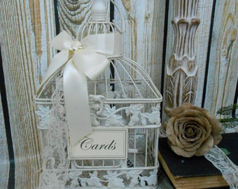 Wedding Birdcage Card Holder | Wedding Card Box | Wedding Wishes | Wishing Well | Wedding Decor | Birdcage Card Holder