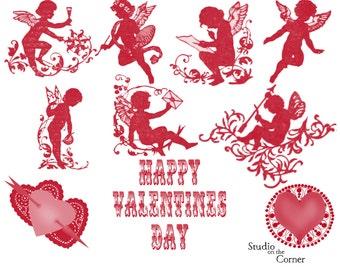Valentine Brushes, Valentine Digital Stamps, Digital Brushes, Cupid Brushes, Cupid Stamps, Heart Brushes, Heart Stamps, Digital Heart Brush
