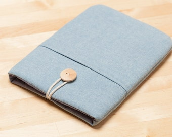 Kobo glo HD case / kindle paperwhite case / kindle fire HD 6 case / kindle voyage case / / kobo aura case / Nook case - Plain blue -