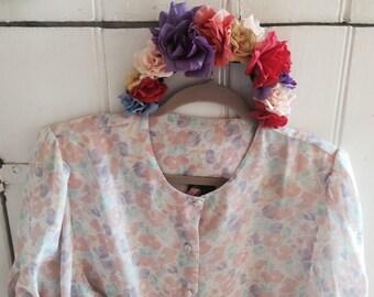 Vintage pastel blouse