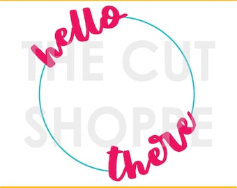 The Hello Hello cut file can be used for your scrapbook and papercrafting projects.