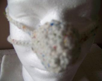 Soft White Fleck Tweed Nose Warmer