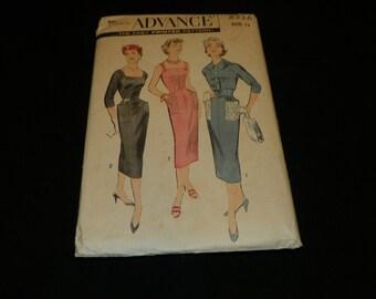 Advance 8336 dress/jacket pattern size 12 1950's  Item #258-P
