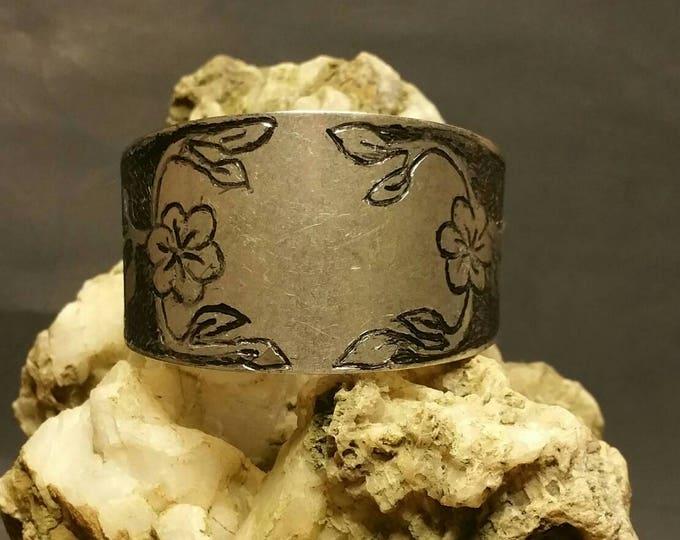 Hand Carved Cuff Bracelet