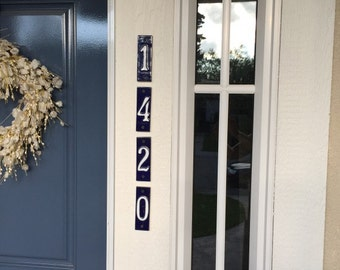 Ceramic House Number. Hand-made!