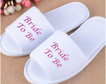 Bridal slippers, Bride to be, Bridal Shower, Printed Slippers