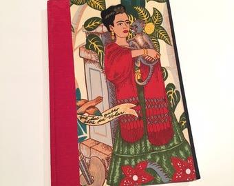 Frida Kahlo Hard Cover Journal: Red
