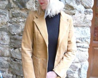 J.C.L French vintage Camel corduroy blazer