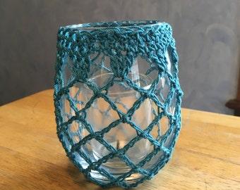 Candle Holders, Crochet