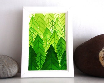 ORIGINAL Painted Illustration | Emerald Forest