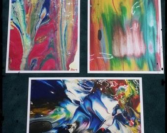 Original Art Photography Print/Postcard Set (Paint One)