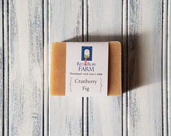 Sample of Cranberry Fig Goat's Milk Soap, Cold Process, Extra-Moisturizing, 1 bar
