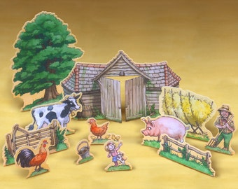Farm play set printable.
