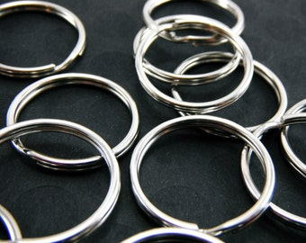 304 Steel, Non-Plated Stainless Steel JumpRings, Nickel Color,  25mm Diameter, 1.5mm Thick (Quantity 20) RING013
