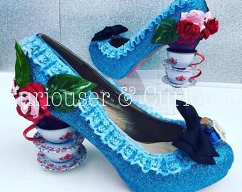 Alice In Wonderland Inspired Tea Cup Heels