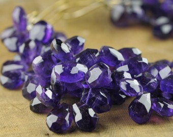 Purple Amethyst Three Strand Statement Necklace