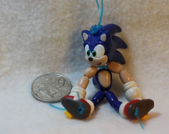 Sonic the Hedgehog Bead-Doll (polymer clay)
