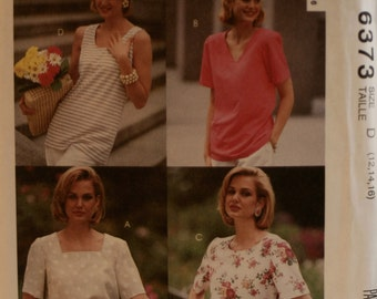 Misses' Blouse Sewing Pattern - McCall's 6373 - New - Uncut - Size 12 - 14 - 16