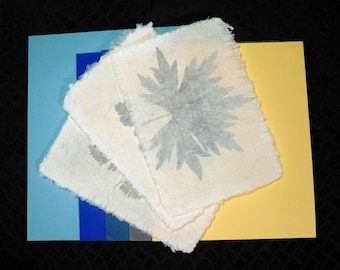 Handmade Paper / Homemade Paper / Natural Paper / Decorative Paper / Floral Paper / Collage /Papermaking / Paper Art