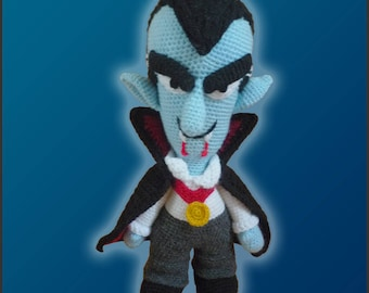 Amigurumi Pattern Crochet Count Dracula DIY Instant Digital Download PDF