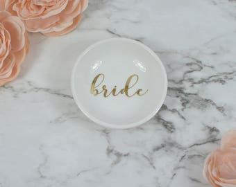 Bride Ring Dish, Engagement Ring Holder, Engagement Ring Dish, Mrs Ring Dish, Bridal Shower Gift, Future Mrs Ring Tray, Custom Ring Dish