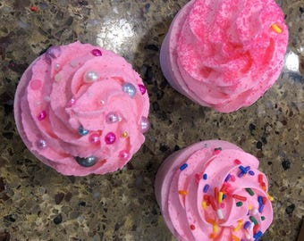 Bath Bomb Cupcake With Whipped Soap Frosting Customized